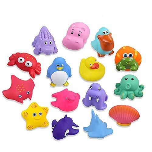 Lictin Badespielzeug Badewannenspielzeug Baby 15 Stücke Kinder Badewannen Spielzeug Badespielzeug Set...