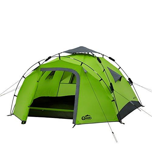 Sekundenzelt Qeedo Quick Pine 3, Campingzelt - grün