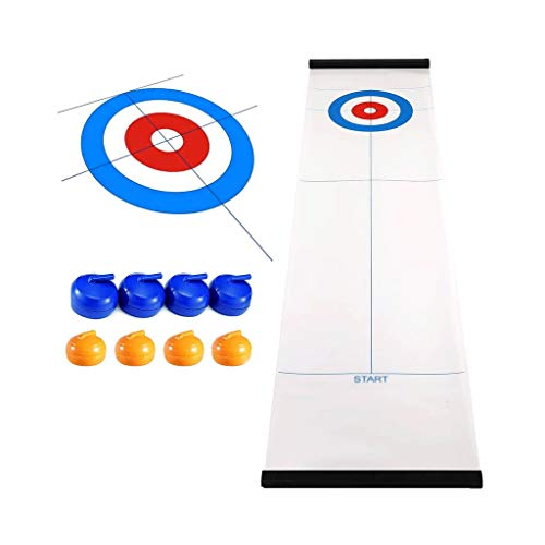 YYL Schnelles Sling Puck Spiel Tabletop Curling Familienspaß Brettspiele Shuffleboard Pucks mit 8...
