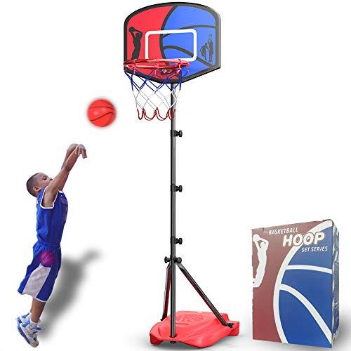 HAHAKEE Basketballkorb für Kinder, Verstellbares Tragbares Basketballset, Kinder-Basketballständer,...