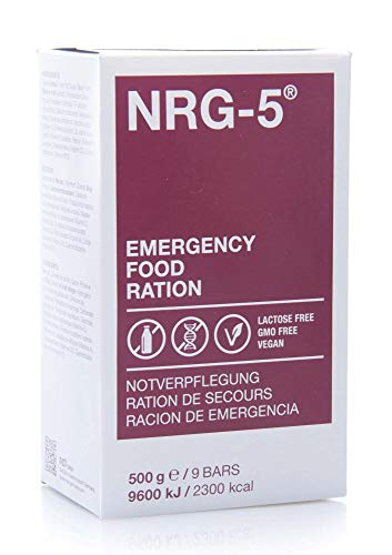 NRG-5 Langzeitnahrung, Notverpflegung EPA lactosefrei vegan 24 x 500 g für Outdoor, Camping, Sport,...