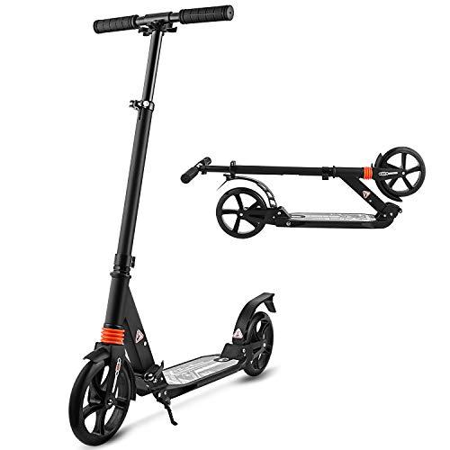 WeSkate City Roller Scooter Klappbar & Höhenverstellbar Roller für Erwachsene | Big Wheel Scooter...