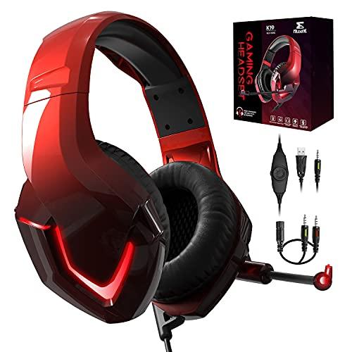 PS4 Kopfhörer mit Kabel und Mikrofon für PC Over Ear Kinder NEEDONE K19 Gaming Headset with mic PS5...