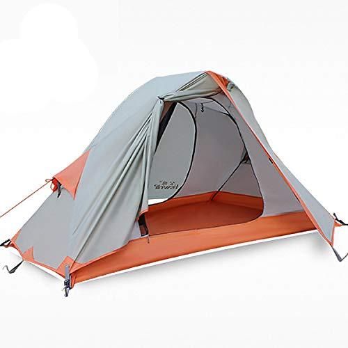 HEWOLF Campingzelt 1 Personen Zelt Ultraleichtes Rucksackzelt Kuppelzelt Wasserdicht Angelzelt Firstzelte...