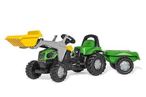 Rolly Toys rollyKid Deutz-Fahr 5115 G TB Trettraktor mit Anhänger (für Kinder von 2,5 bis 5 Jahren,...