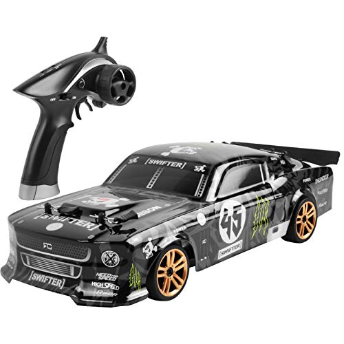 HSKB Ferngesteuertes Auto RC Car 2,4 G 4WD 1:18 LED 4wd 60km / h Buggy Stunt High Power LED Racing Truck...