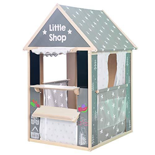 roba Spielhaus-Kombination, enthält Kaufladen, Kasperletheater, Tafel, Schalter für Post/Bank/Kiosk...