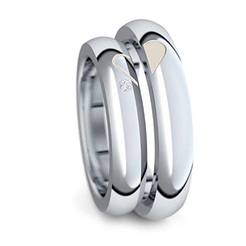 Eheringe Verlobungsringe Trauringe Freundschaftsringe Silber 925 + GRATIS Luxusetui Zirkonia Paarpreis...