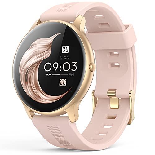 Smartwatch, AGPTEK 1,3 Zoll Armbanduhr mit personalisiertem Bildschirm, Musiksteuerung, Herzfrequenz,...