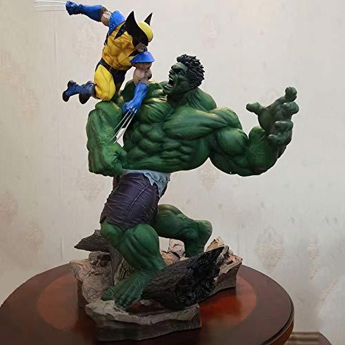 Anime Figur Wolverine Hulk Übergroßes Modell Charaktere Statuen, Wolverine Vs. Hulk PVC Anime Figuren...