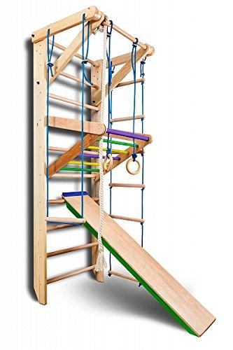 Sportgerät Turnwand Kinder Gym Sport-3-240-Farbe Klettergerüst Fitness Kletterwand Holz Sprossenwand...