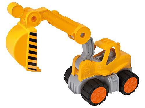 BIG-Power-Worker Bagger, Spielzeug Auto ideal für Unterwegs, Reifen aus Softmaterial, beweglicher...