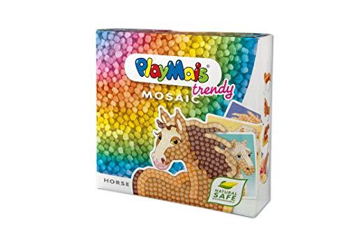 PlayMais TRENDY Mosaic Horse Kreativ-Set zum Basteln für Kinder ab 6 Jahren | Über 3.000 Stück & 6...