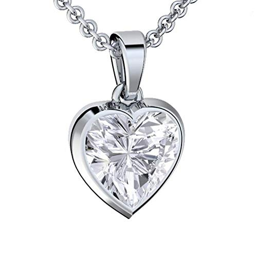 Herzkette Silber 925 Premium Etui mit *Ich Liebe Dich* Gravur Halskette für Damen Silber Herz Kette...