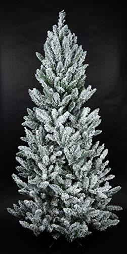 Schnee-Tannenbaum 240cm LS künstlicher Weihnachtsbaum Tannenbaum Kunststoff Schneetanne mit...