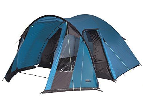 High Peak Kuppelzelt Tessin 4, Campingzelt mit Vorbau, 2 Eingänge, Familien-Zelt für 4 Personen, extra...