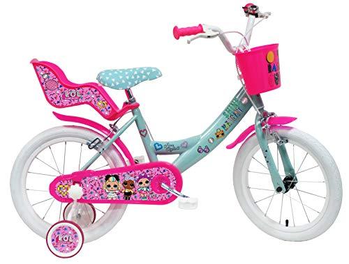 Denver Bike 16 LOL Citybike 40,6 cm (16 Zoll) Stahl Rosa, Türkis, Weiß Mädchen - Fahrrad (vertikal,...