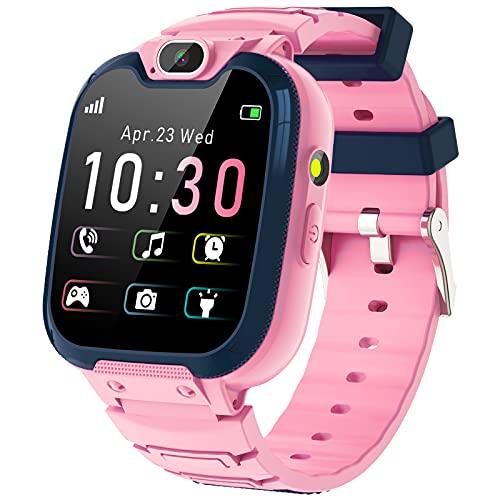 Kinder SmartWatch - MP3 Musik 14 Spiele Kids Smart Watch Anruf Chat SOS Taschenlampe Digitalkamera, Uhr...