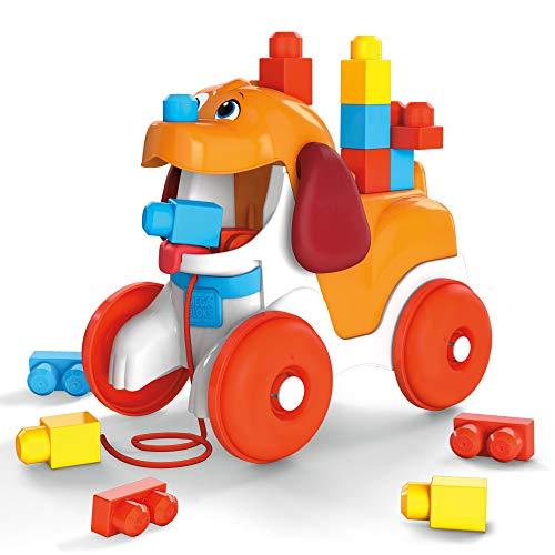 Mega Bloks GNW63 - Hündchen zum Hinterherziehen, Bauset mit 15 Bausteinen, Spielzeug ab 1 Jahren