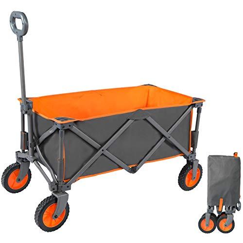 PORTAL Bollerwagen faltbar Handwagen Transportwagen tragbar Strandwagen Gartenwagen Faltwagen für alle...