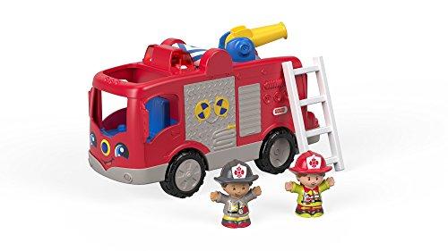 Fisher-Price FPV31 Little People Feuerwehr interaktives Fahrzeug mit Geräuschen Sätze und Liedern inkl....