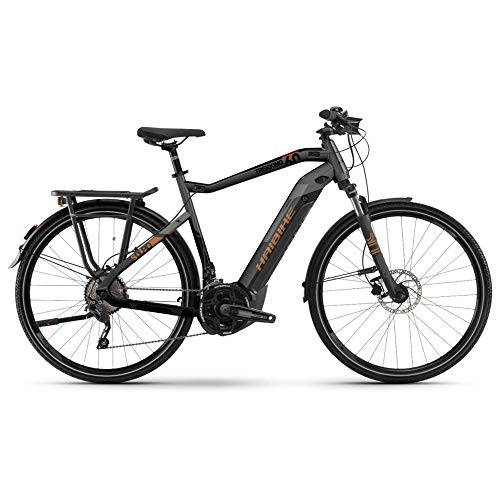 HAIBIKE Sduro Trekking 6.0 Pedelec E-Bike Fahrrad grau/schwarz/bronzefarben 2019: Größe: S