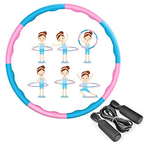 MEckily Hula Hoop Reifen Hula Hoop für Erwachsene & Kinder zur Gewichtsabnahme und Massage, Schaumstoff...