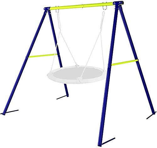 Dripex Schaukelgestell Metall Schaukel Gestell Schaukelgerüst für Kinder Schaukel bis 100kg belastbar...