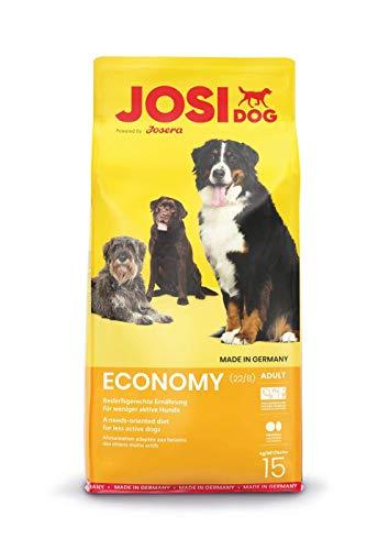 JosiDog Economy (1 x 15 kg) | Hundefutter für ausgewachsene Hunde | Trockenfutter | powered by JOSERA |...