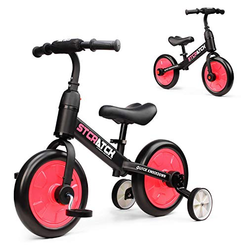 Fascol 3 in 1 Laufräder Laufrad für Kinder Kinderdreirad Multi Dreirad für Kinder ab 1 Jahre bis 6...