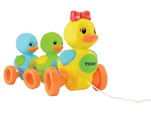 TOMY Babyspielzeug 'Entenfamilie' mit Soundeffekt – Hochwertiges Nachziehspielzeug mit farbenfrohem...