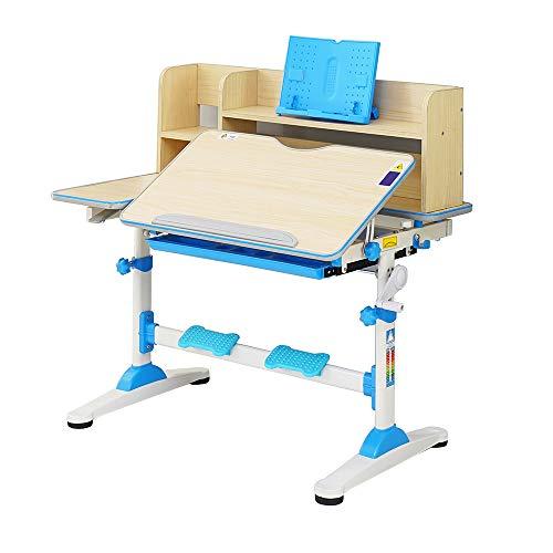 Style home Kinderschreibtisch höhenverstellbar neigbar Schreibtisch für Kinder Schülerschreibtisch mit...