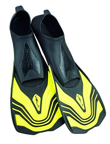 Seac Unisex– Erwachsene Vela Kurze Flossen zum Schwimmen im Schwimmbecken oder im Meer, gelb, 42-43