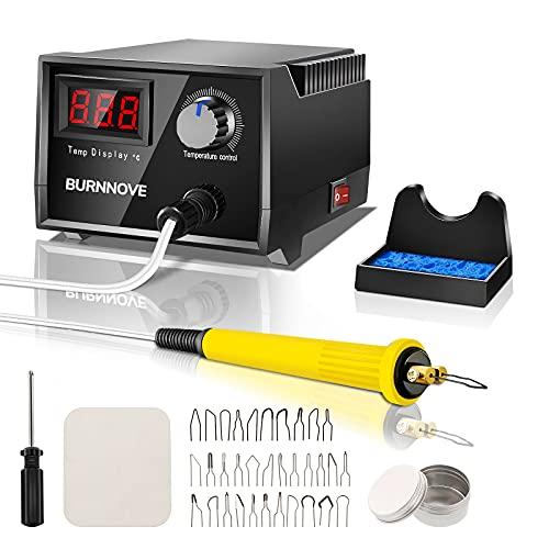 Pyrography Maschine 60W Verbessertes Holzverbrennungs-Kit einstellbare Temperaturregelung Digitaler...