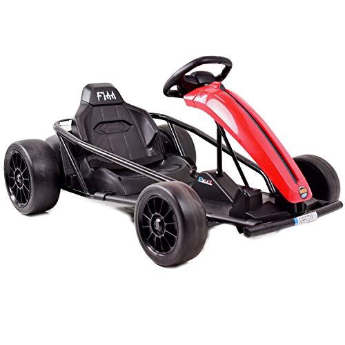 fit4form Kinder Elektro Go Kart Drift Speed 24V 18 km/h Kinderauto elektrisch Gokart Elektrocart rot