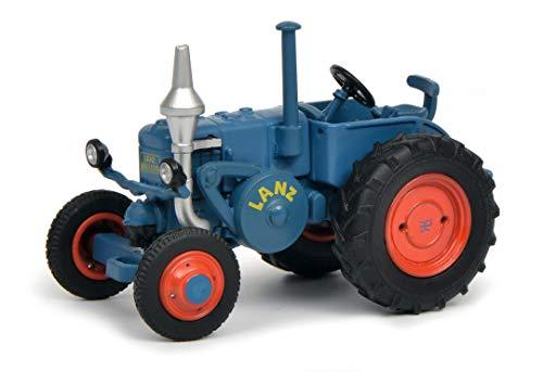 Schuco 452017400 Lanz Bulldog, ohne Dach, Traktor, Modellauto, 1:64, blau