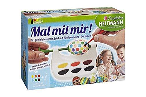 Heitmann Zartes Pastell - flüssige Kaltfarben - gelb, rosa, türkis, grün, Flieder - Oster-Eierfarbe -...