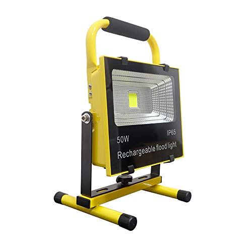 JunY LED Baustrahler AKKU Gelb Fluter Tragbare Campinglampe Nachtfischen Handlampen wiederaufladbar...