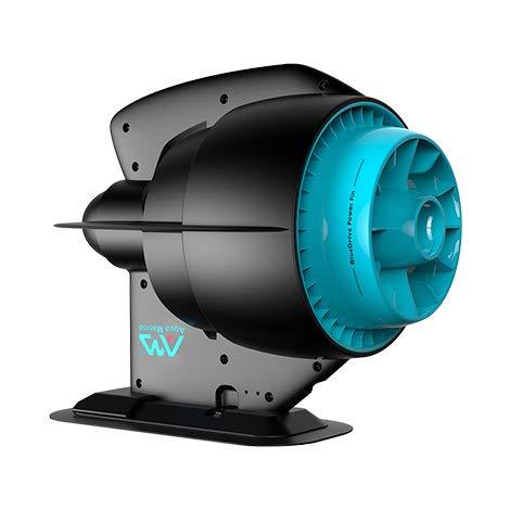 Aqua Marina Sports BlueDrive Electric Power Fin für SUP Boards, Black, Blue, 277x231x101mm