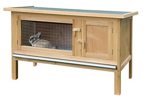 Kerbl Nagerhaus Fred (Stall für Hasen / Kanninchen, mit Ruheraum, aufklappbares Bitumendach mit...