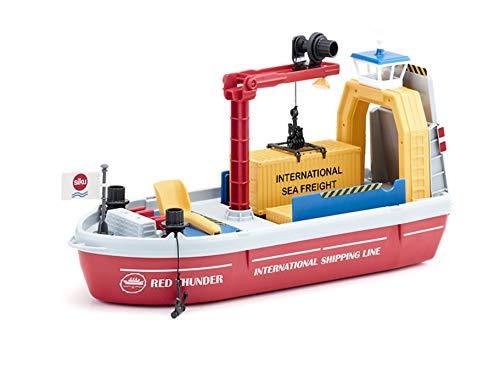 siku 5403, Containerschiff inkl. Zubehör, Kunststoff, Bunt, Inkl. 1 Schaufel und 2 Containern, Viele...