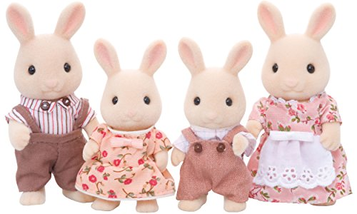 Sylvanian Families 4108 Milchhasen Familie - Figuren für Puppenhaus