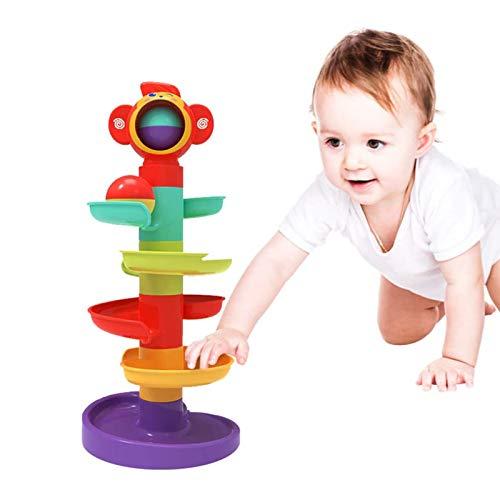 YGJT Baby Spielzeug ab 6 Monate Kugelbahn | Motorikspielzeug ab 1 Jahr mit 5 Schichte Ball Drop Spiel |...
