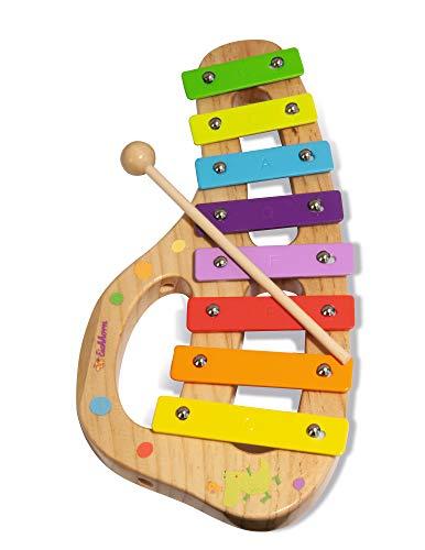 Eichhorn 100003482 Musik xylophon aus Holz Bunte Tonleiter mit 8 Tönen, inkl. 1 Klöppel und Liederbuch...
