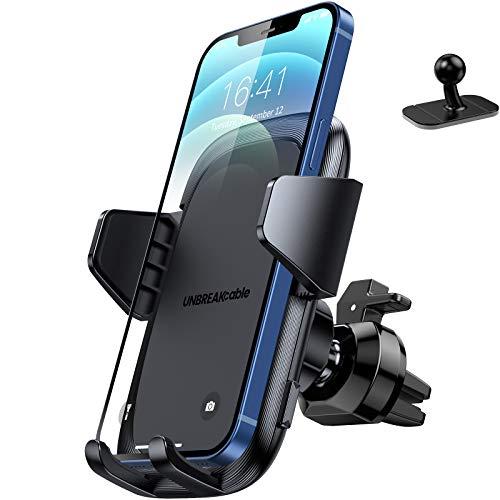 UNBREAKcable Handyhalterung Auto Lüftung & Armaturenbrett [2 en 1] Handyhalter fürs Auto Silikonschutz...