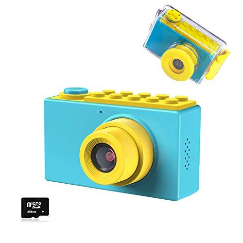 Kriogor Kamera Kinder, wasserdichte Kids Digitalkamera und Videokamera mit 4X Digitaler Zoom/ HD 1080/ 8...