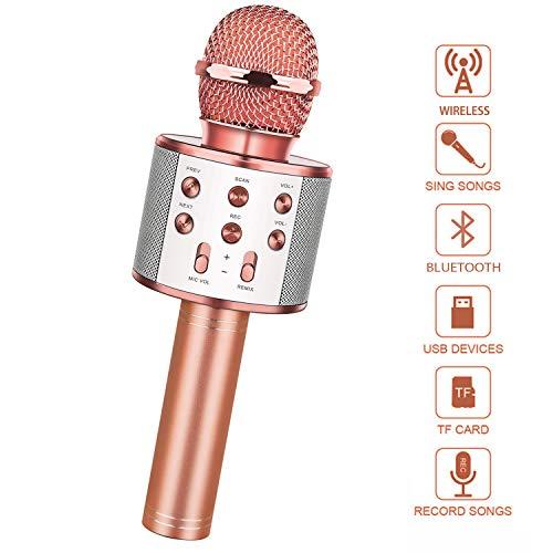 LetsGO toyz Mikrofon Kinder, Geschenke für Kinder Spielzeug Jungen 4-12 Jahre Kinder Spielzeug ab 5-12...