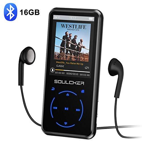 MP3 Player, 16GB Bluetooth MP3 Player mit Kopfhörer, MP3 Player Kinder mit Lautsprecher FM Radio Voice...