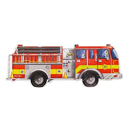 Melissa & Doug Fußbodenpuzzle: Riesiges Feuerwehrauto