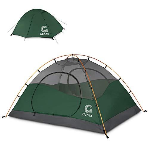 Gonex Camping Zelt, 2-Personen Kuppelzelt Wind- und wasserdichtes Campingzelt für 3 Jahreszeiten,...